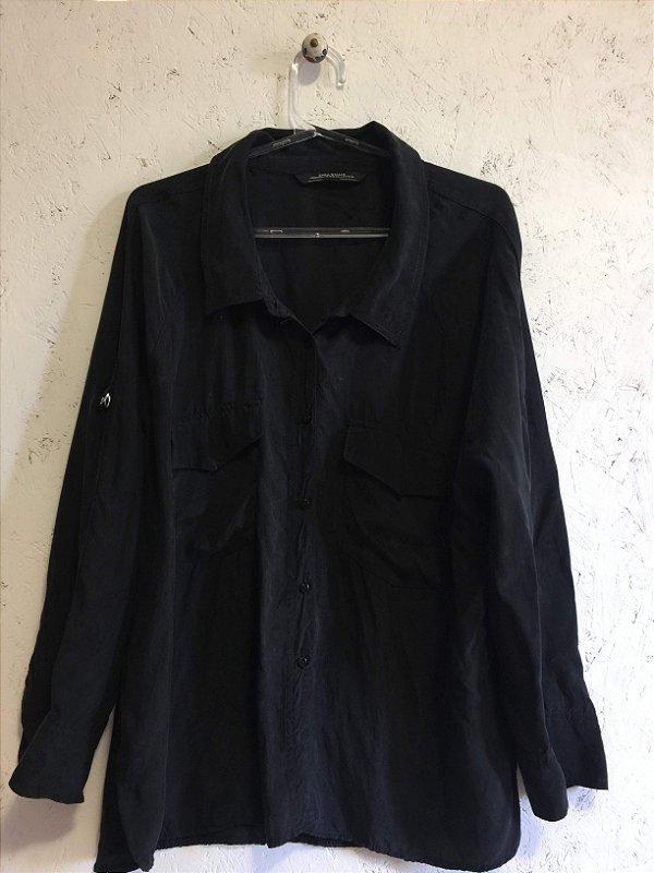 Camisa preta (M) - Zara