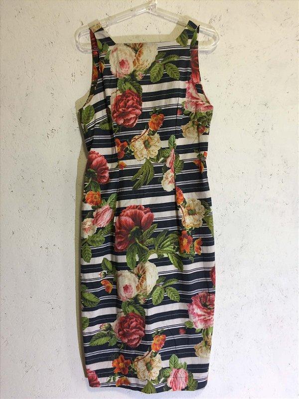 Vestido midi flores (M)