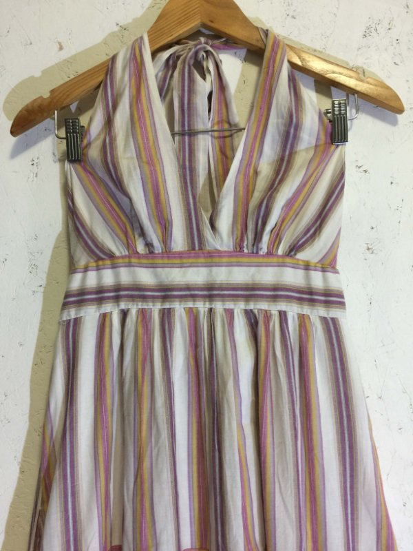 Vestido longo listras (M) - Le Lis Blanc