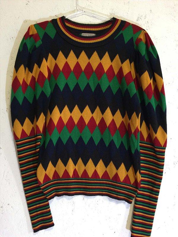 Blusa tricot cores (M) - Rosa Nude