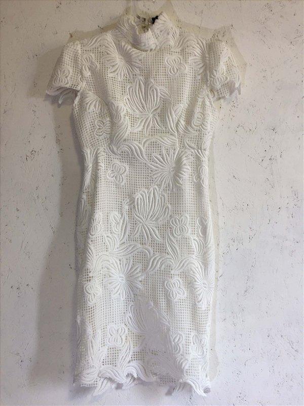 Vestido renda branco  (36) - Agilitá