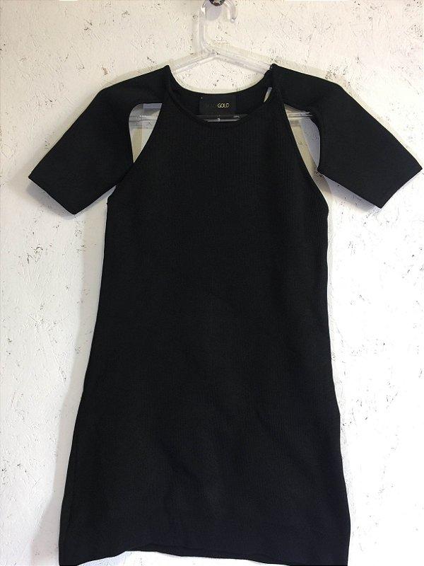 Vestido preto bandagem (P) - Andrea Bogosian Black Gold