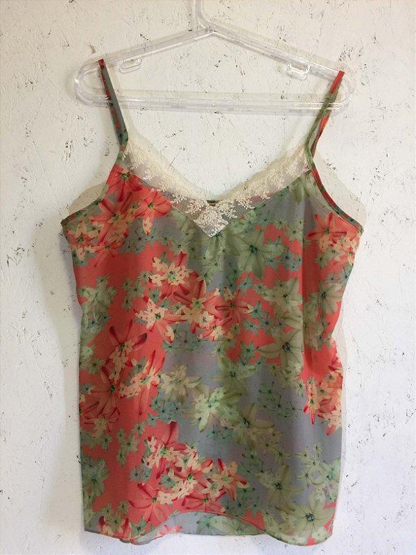 Camiseta florida (G) - Maria Filó