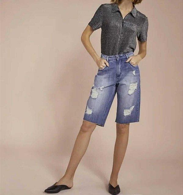 Bermuda jeans alongada boyfriend (36) - Shoulder