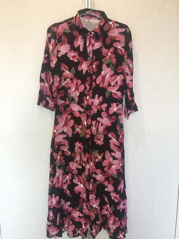 Vestido estampado flores (M) - Alk Urban