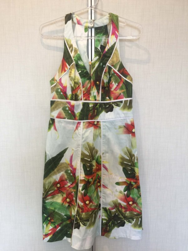 Vestido estampado folhas (P) - Enjoy