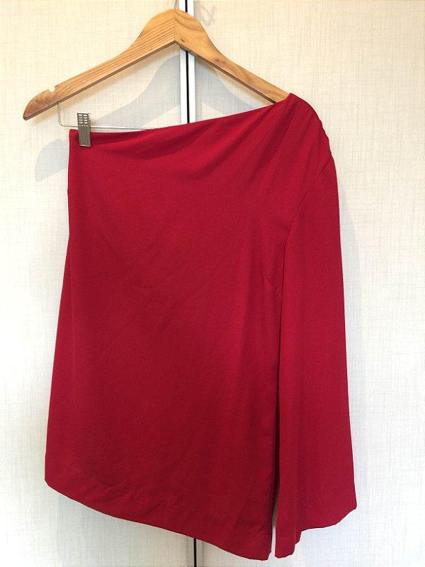 Blusa um ombro só vermelha (G) - Laborê
