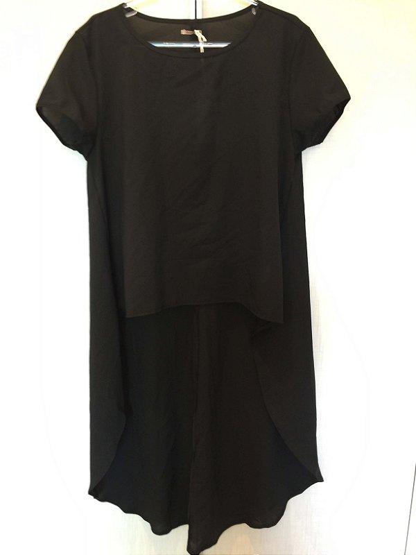 Blusa preta mullet (M) - Quintess