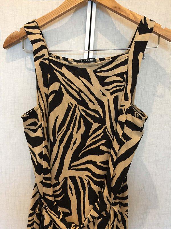 Vestido animal print (P) - Zinzane