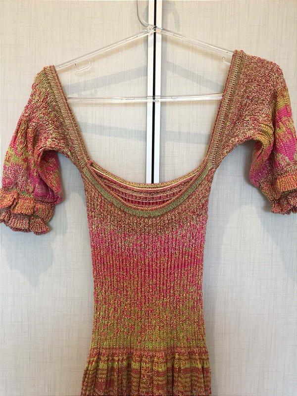Vestido tricot cores (P)
