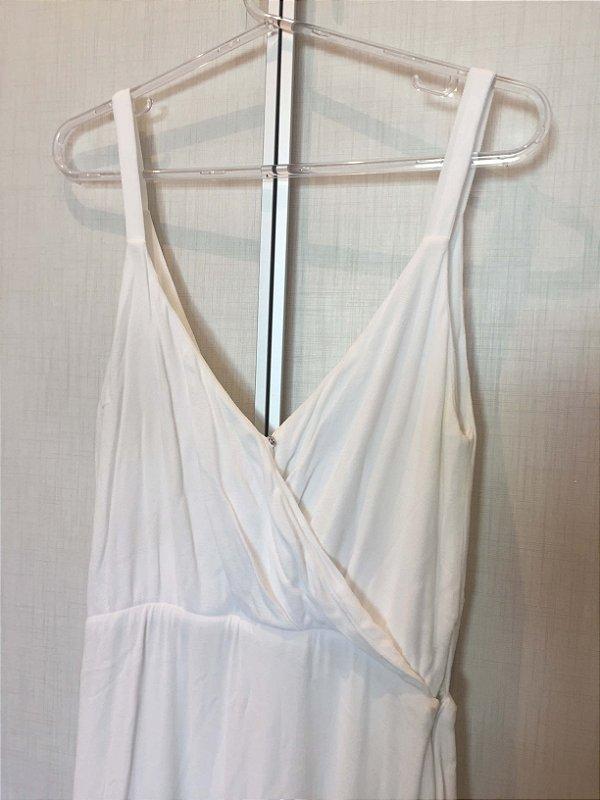 Vestido branco e verde (G) - Strass