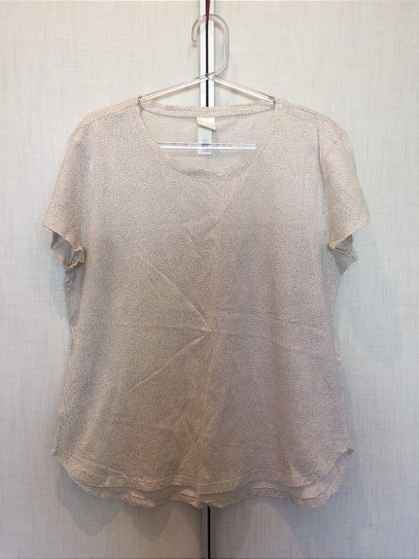 Blusa malha mini poá (M) - H&M