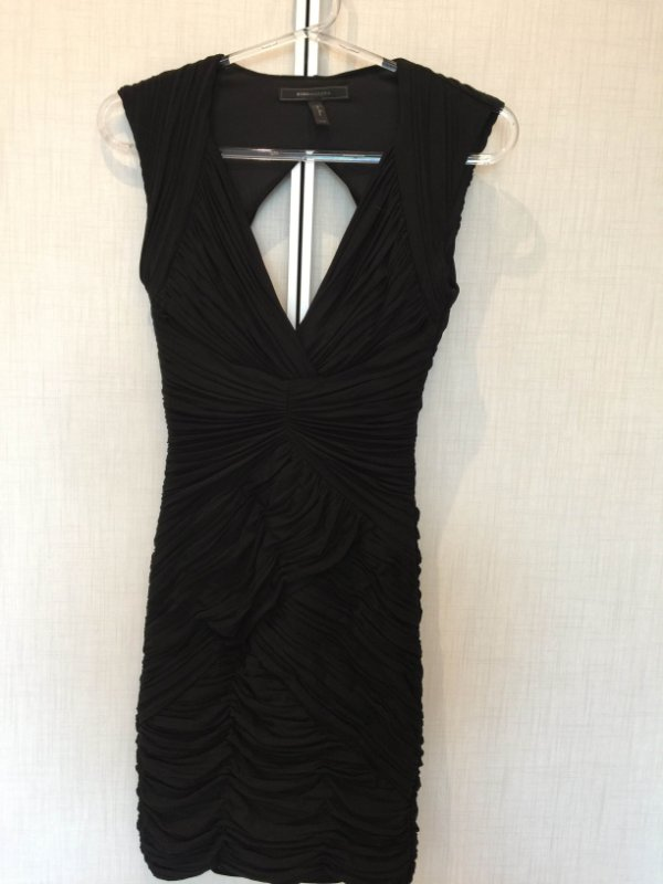 Vestido black Franzido (XXS) - BCBG Max Azria