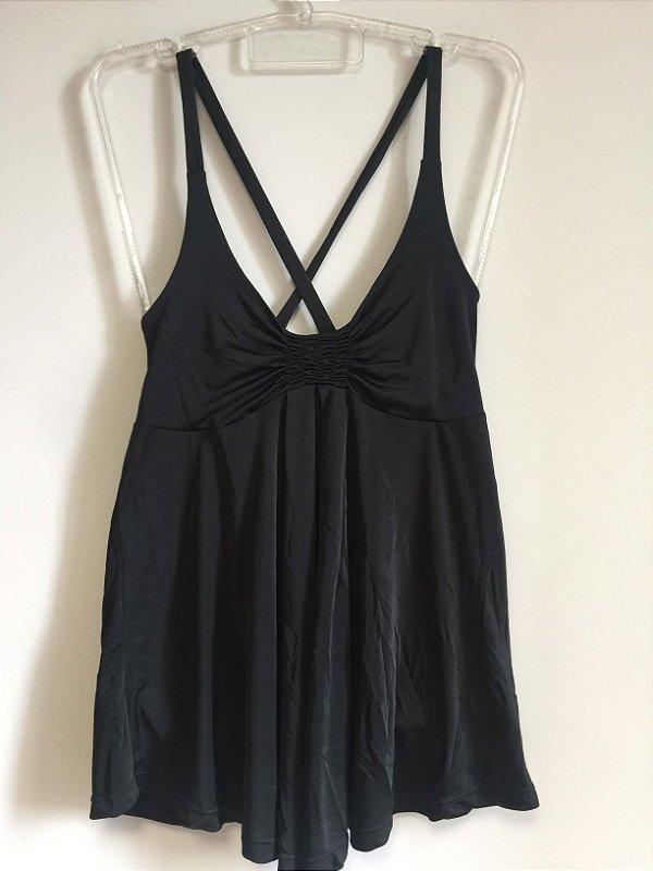 Camiseta soltinha preta (G) - Zara