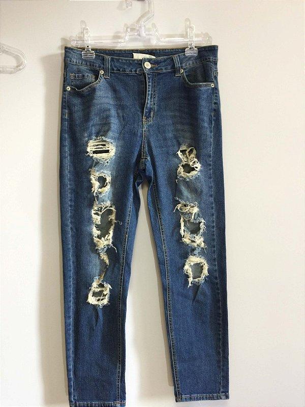 Calça jeans destroyed (44) - Forever 21