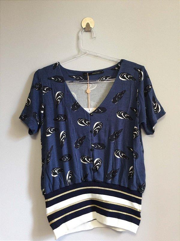 Blusa tricot conchas (P) - Maria Filó NOVA