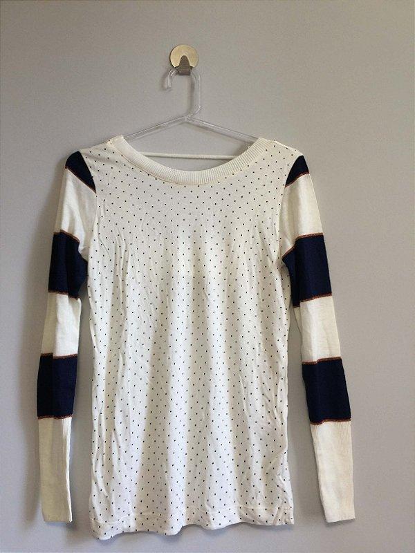 Blusa manga longa tricot (P) - Maria Filó