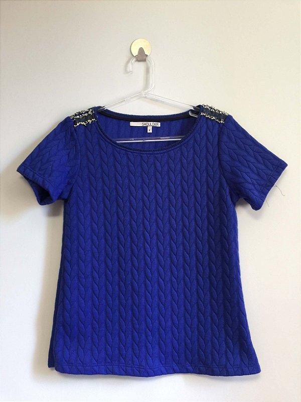 Blusa textura (P) - Shoulder