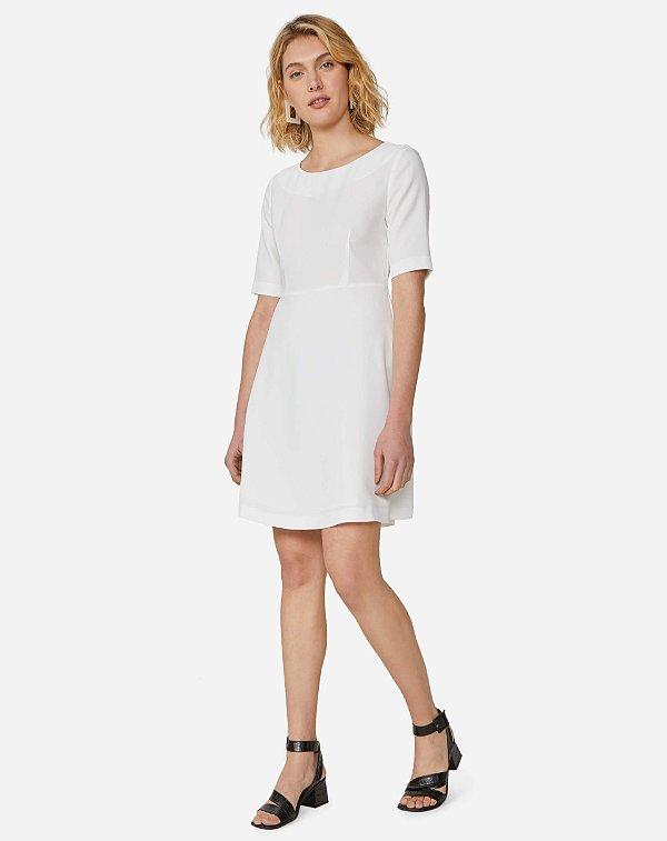 Vestido off white (P) - Amaro