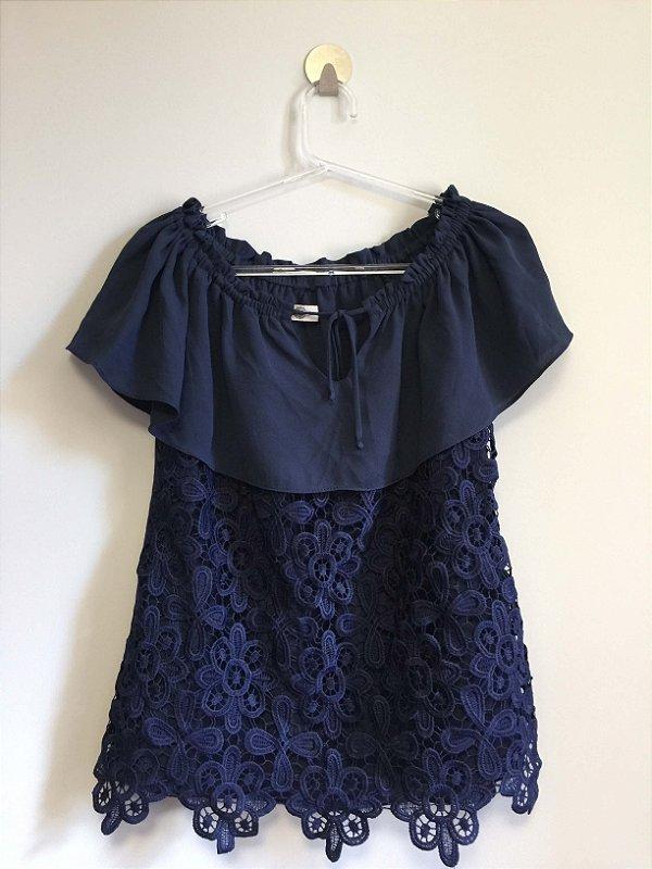 Blusa ciganinha renda (P) - Toujours