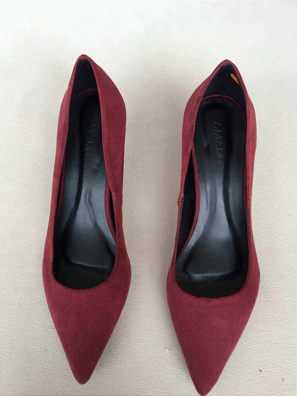 Sapato Scarpin camurça (37) - Amaro NOVO