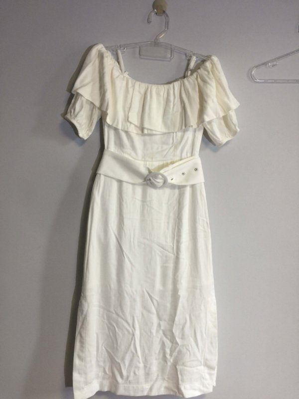 Vestido off white (P) - Chiclé NOVO