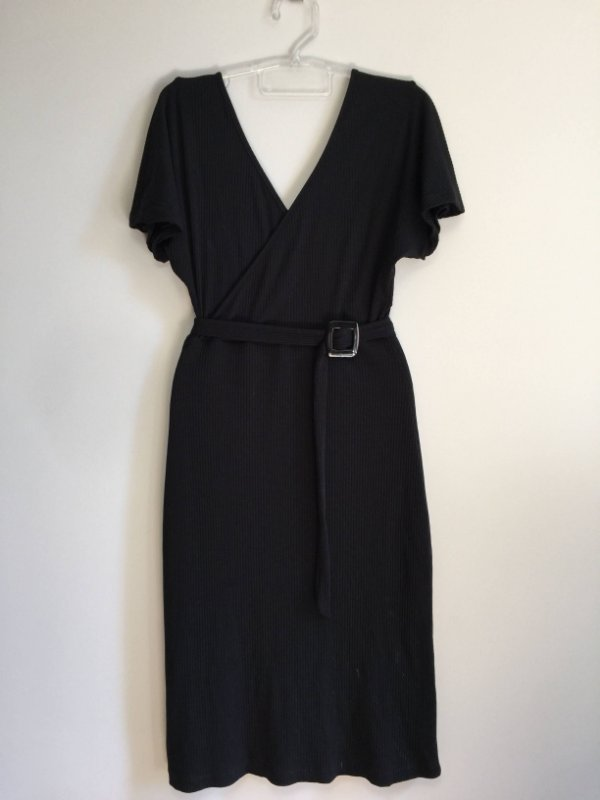 Vestido malha com cinto (PP) - Mabitt