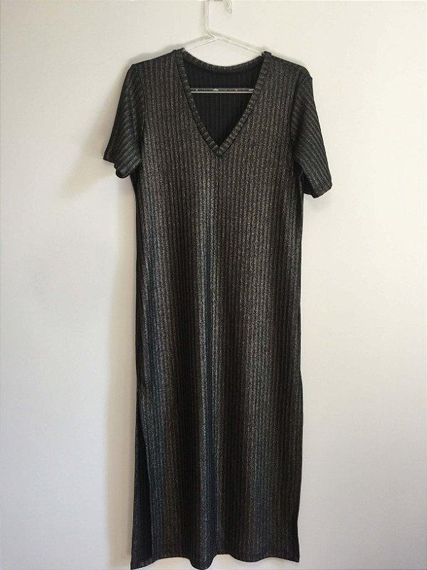 Vestido midi red lurex/tricot  (M) - Rice and beans
