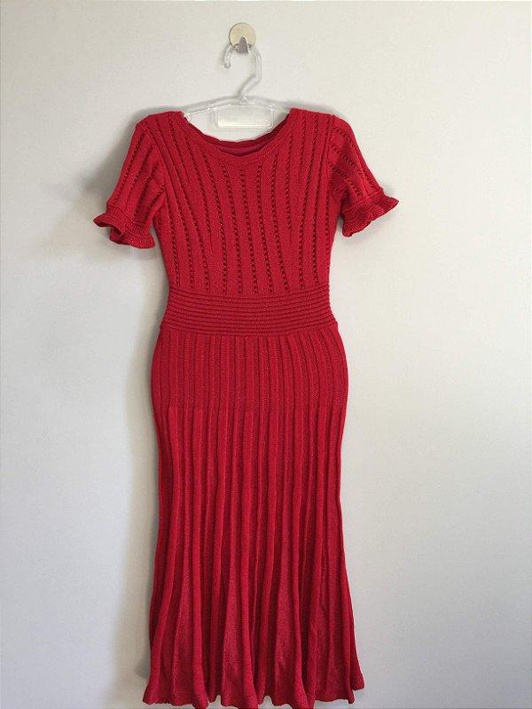 Vestido midi lurex (P) - Maria A Tricot