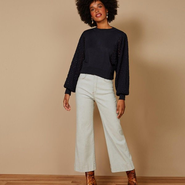 Calça jeans pantacourt eco (38) - Maria Filó NOVA