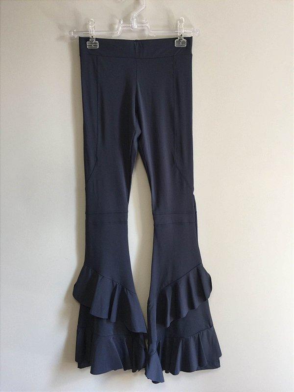Calça flare azul (P) - Memo e Lilly Sarti