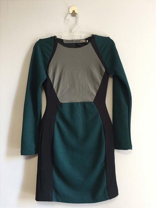 Vestido midi (P) - Bordô