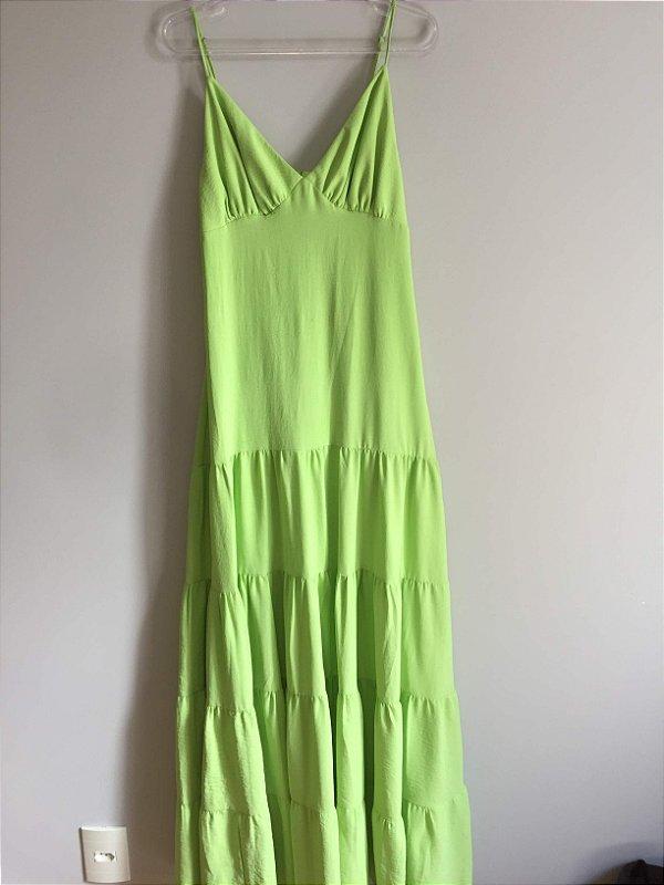 Vestido longo verde (M) - Nanda Lima