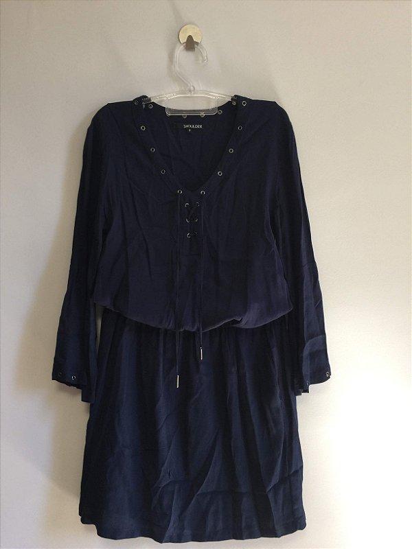 Vestido ilhós azul (P) - Shoulder