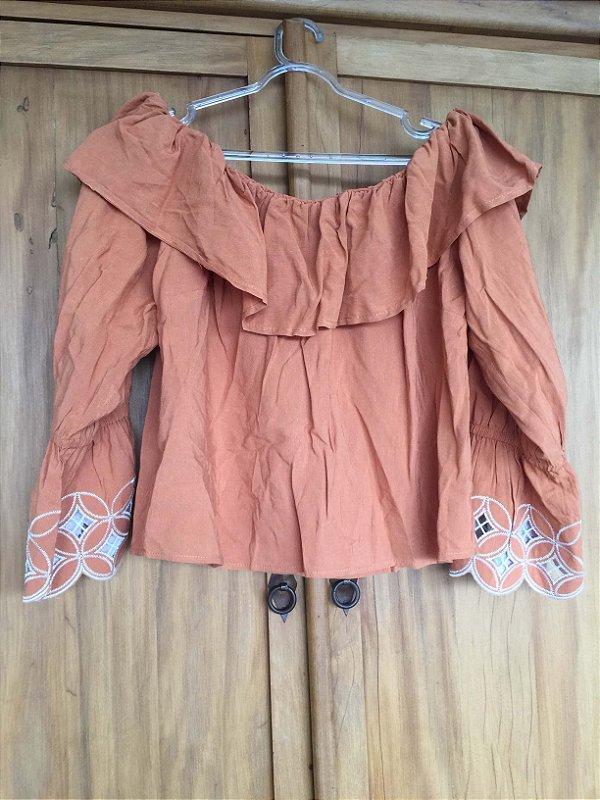 Ombro a ombro laranja (M) -  La Chocolê NOVA
