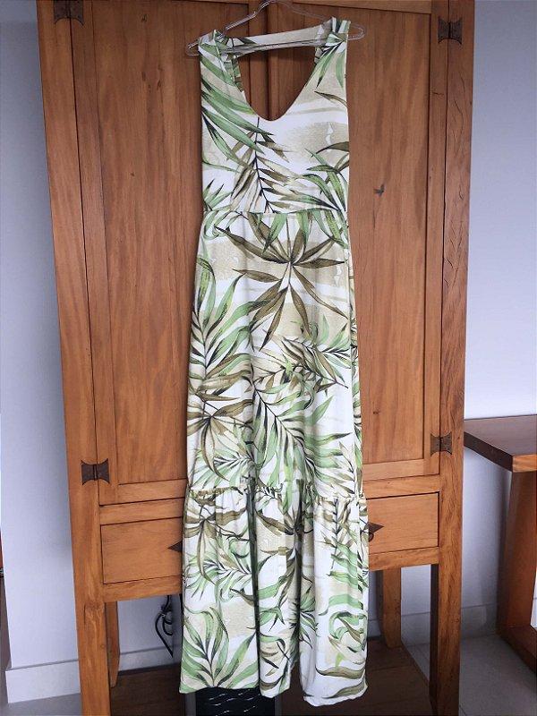 Vestido longo folhagem (M) - Quintess NOVO