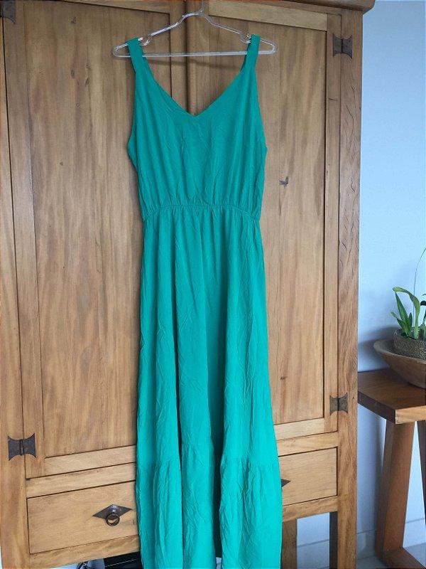 Vestido longo verde (M)  - Quintess NOVO