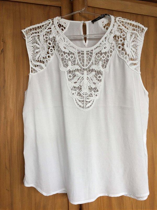 Camiseta renda algodão (40) - Talita kume