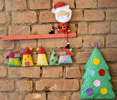 Kit enfeites de Parede Natal