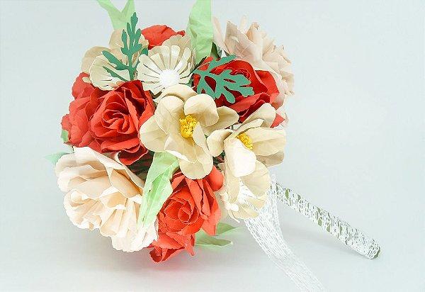 Bouquet de flores de papel