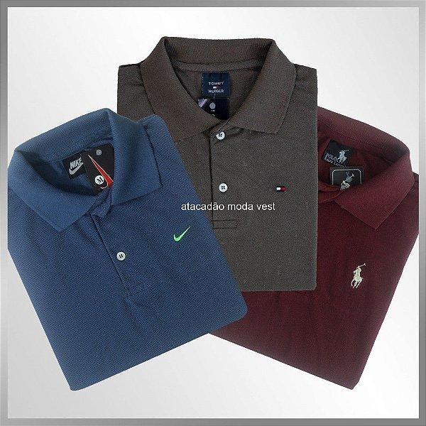 af2e91884f Camisas Polo Básica Masculina - Atacado Vest