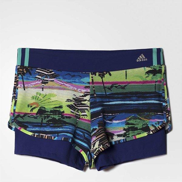 Shorts 2 Em 1 Estampado Treino