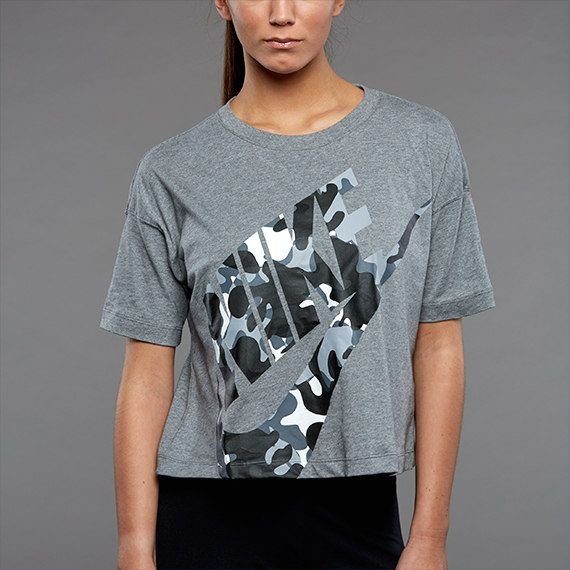 Camisa cropped Top Camo