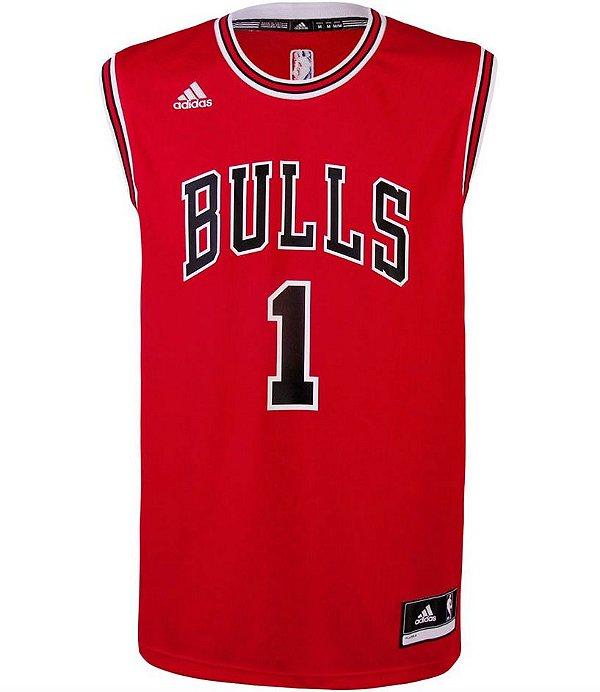 Camiseta Regata NBA Adidas Swingman Chicago Bulls - Rose -