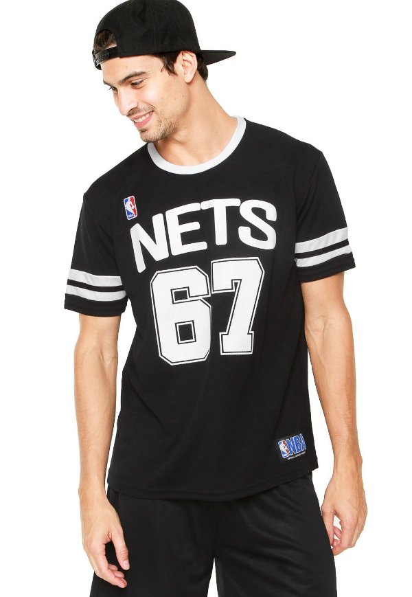 Camiseta NBA Premium Brooklin Nets Preta