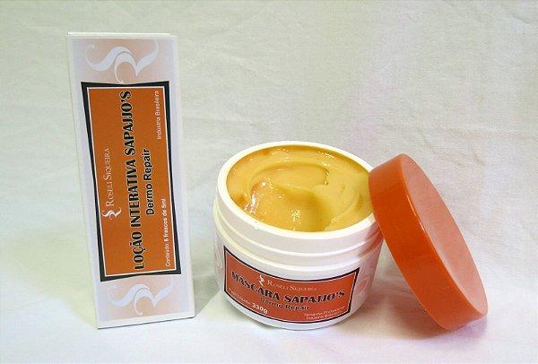Máscara Sapajjo's - 300 g + Loção Interativa Dermo Repair - 6 ampolas de 5 ml