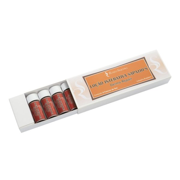 Loção Interativa Sapajjo's - Dermo Repair - 6 ampolas de 5 ml