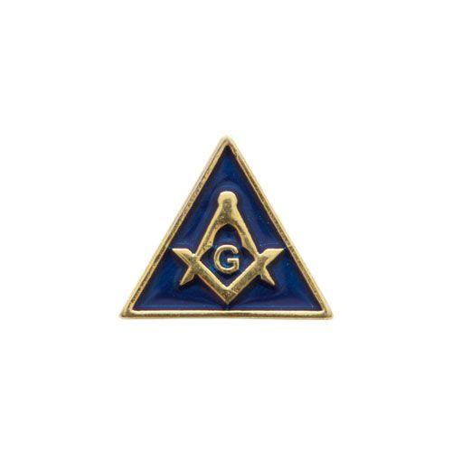 BT-007-A - Pin Esquadro e Compasso Triangular Azul