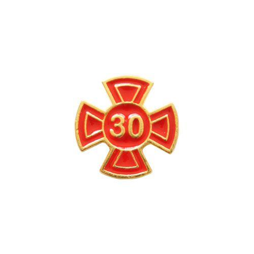 BT-043-V - Pin Grau 30 Vermelho