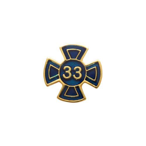 BT-044-A - Pin Grau 33 Azul